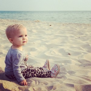 Kaylee thinking beach